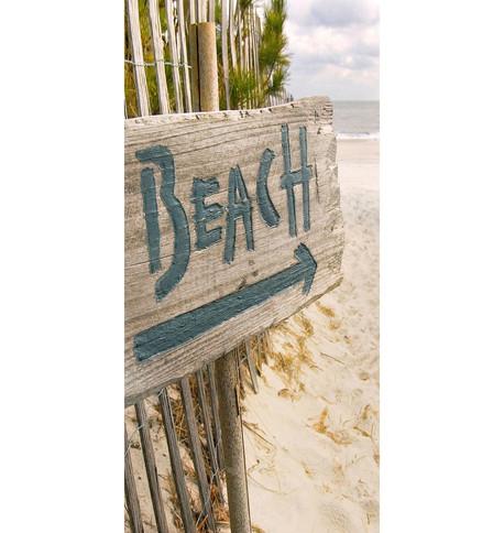 BEACH DISPLAY BANNER Blue