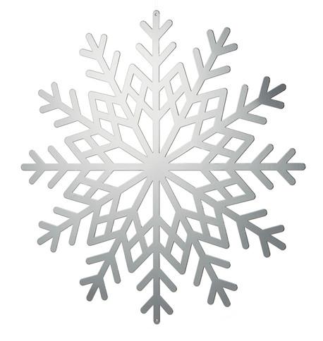 Silver Metallic Card Snowflakes Silver
