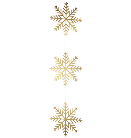 Gold Metallic Card Snowflake Garlands Gold
