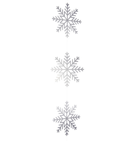 Silver Metallic Card Snowflake Garlands Silver