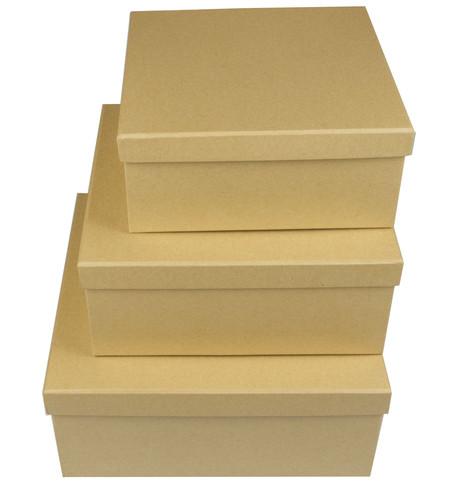 SQUARE KRAFT BOXES Natural
