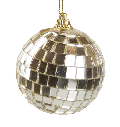 MIRROR BAUBLES - GOLD Gold
