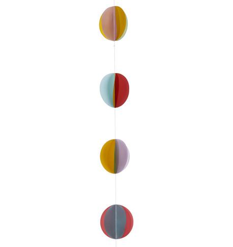Paper Disc Garland Multicoloured