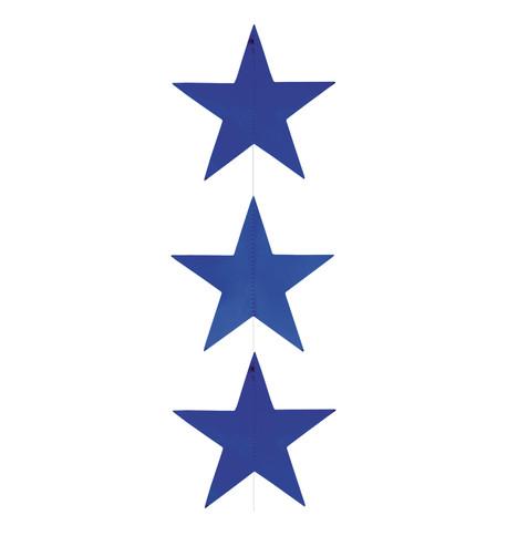 Foil Star Garlands - BLUE Blue