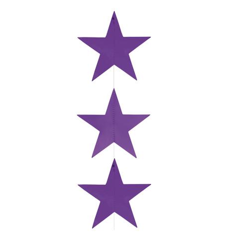 Foil Star Garlands - PURPLE Purple