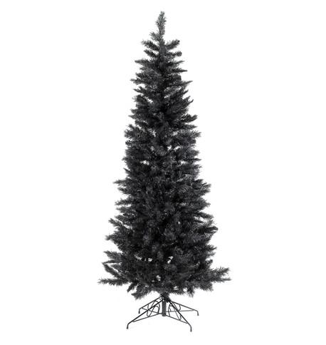 SLIMLINE PINE CHRISTMAS TREE - BLACK Black