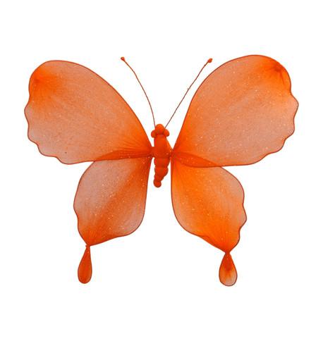 GLITTERED BUTTERFLY - ORANGE Orange