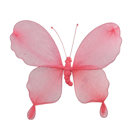 GLITTERED BUTTERFLY - PINK Pink