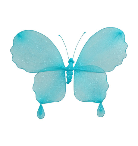 GLITTERED BUTTERFLY - TURQUOISE Turquoise