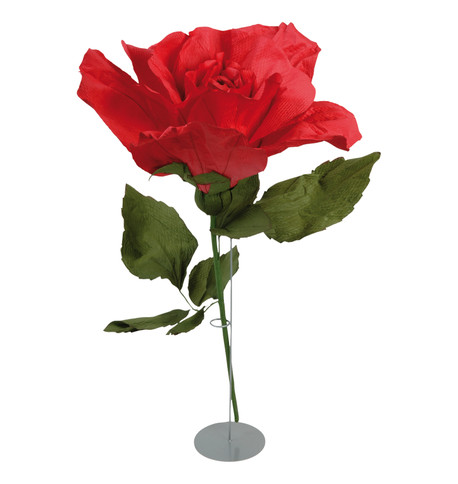 GIANT PARCHMENT ROSE - RED Red