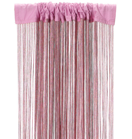 FRINGE CURTAIN - PINK Pink