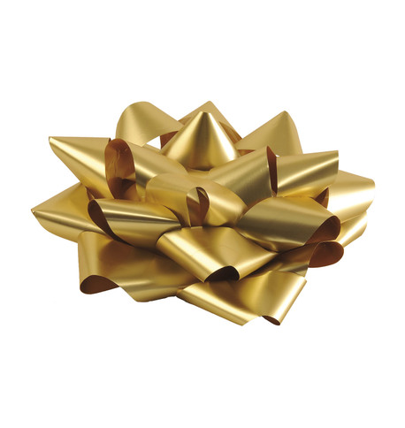 GIANT PARCEL BOW - GOLD Gold