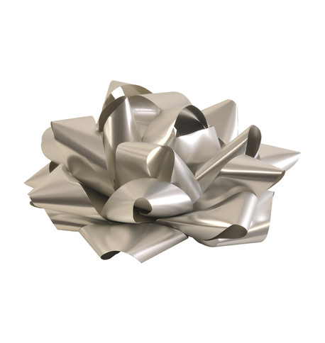GIANT PARCEL BOW - SILVER Silver