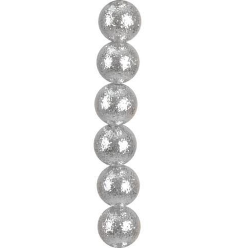 GLITTER BAUBLE GARLAND - SILVER Silver