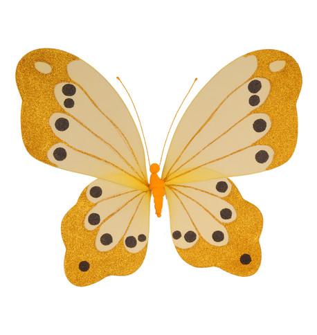 BUTTERFLY GLITTERED - YELLOW Yellow