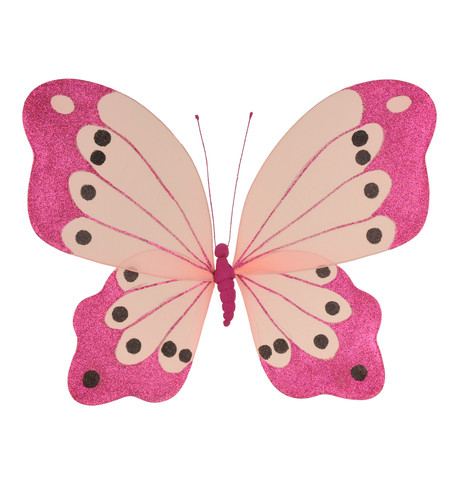 BUTTERFLY GLITTERED - PINK Pink
