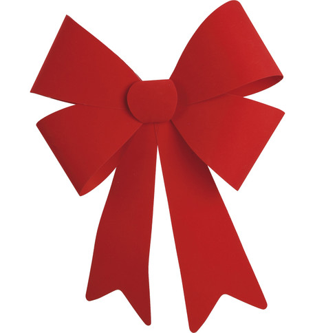 FLOCKED BOWS - RED Red