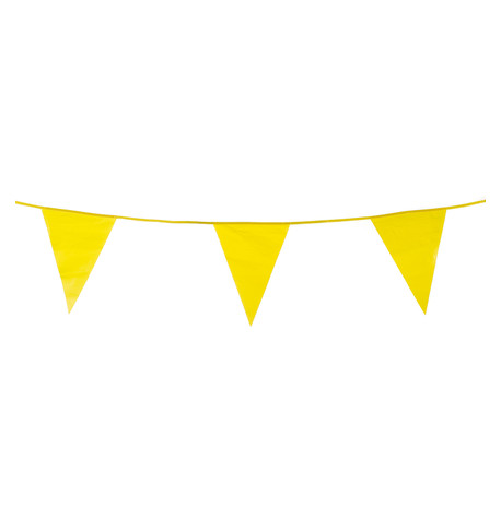 PVC BUNTING - YELLOW Yellow