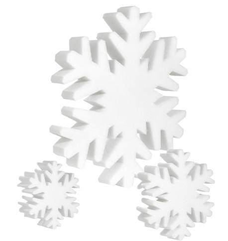 Soft snowflakes White