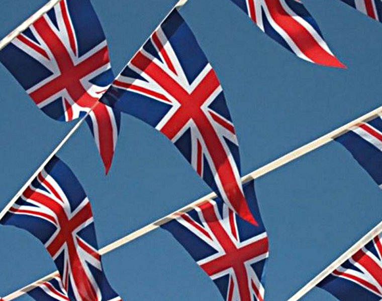 Union Jack Flags and Bunting for Royal Wedding