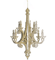 GLITTERED CHANDELIER - CHAMPAGNE - Gold