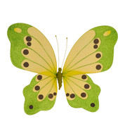 BUTTERFLY GLITTERED - LIME - Green
