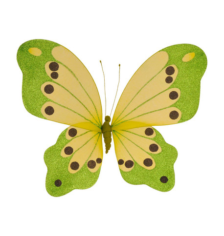BUTTERFLY GLITTERED - LIME Lime