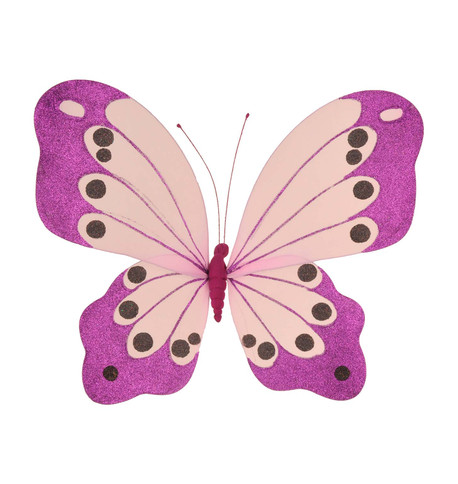 BUTTERFLY GLITTERED - PURPLE Purple