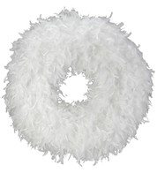 FEATHER WREATH - WHITE - White
