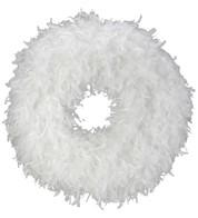 FEATHER WREATH - WHITE - White