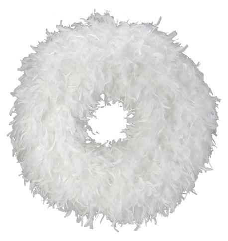 FEATHER WREATH - WHITE White