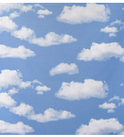 CLOUDS PHOTOPRINT FABRIC - Blue