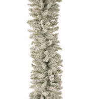 FLOCKED NORWAY SPRUCE GARLAND - Flocked