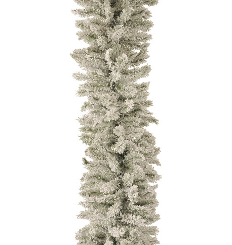 FLOCKED NORWAY SPRUCE GARLAND Flocked