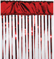 HOLLYWOOD CURTAIN - RED - Red