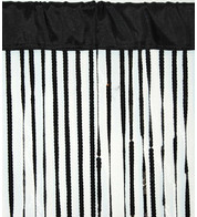 HOLLYWOOD CURTAIN - BLACK - Black
