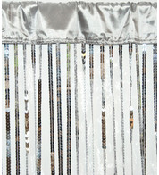 HOLLYWOOD CURTAIN LARGE - SILVER - Silver