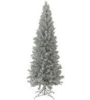 SLIMLINE PINE CHRISTMAS TREE - SILVER - Silver