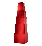 GIANT BOX SET SQUARE - RED - Red