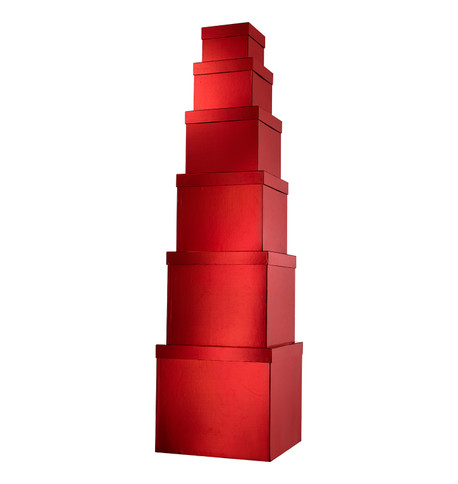 GIANT BOX SET SQUARE - RED Red