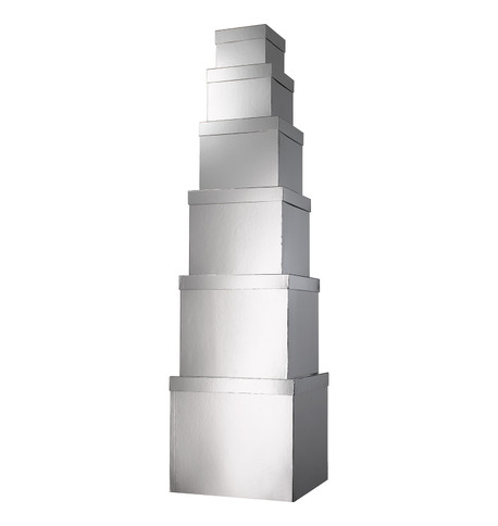 GIANT BOX SET SQUARE - SILVER Silver