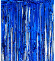 SHIMMER CURTAINS - BLUE - Blue