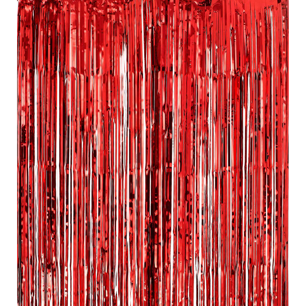Awesome Shimmer Curtains   Red