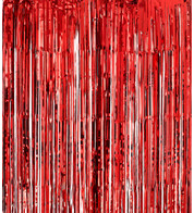 SHIMMER CURTAINS - RED - Red