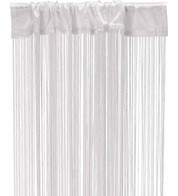 FRINGE CURTAIN - WHITE - Warm White