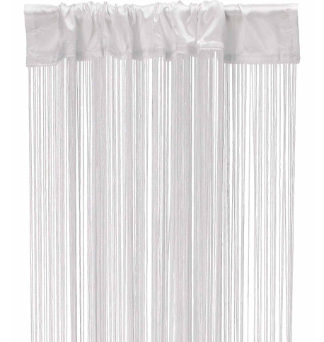 FRINGE CURTAIN - WHITE White