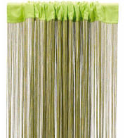 FRINGE CURTAIN - CHARTREUSE - Green