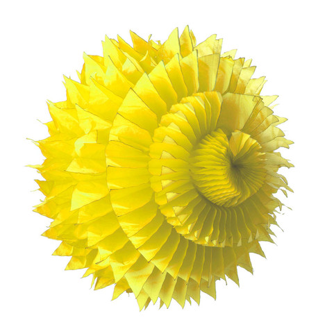 PAPER PETAL BALL - YELLOW Yellow