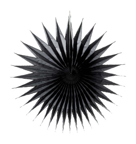 SPIKY FAN - BLACK Black