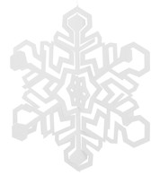 GIANT CUT OUT SNOWFLAKE - White
